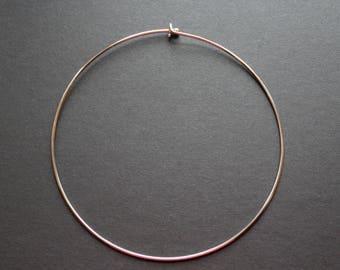 Rigid necklace silver diameter 15 cm
