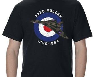 Avro Vulcan Bomber Distressed Design Adult T-Shirt