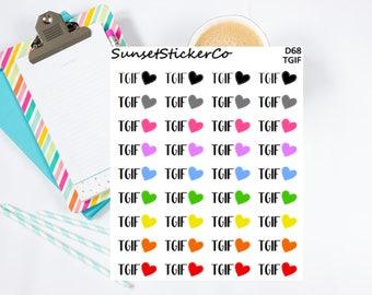 TGIF Stickers (D68)
