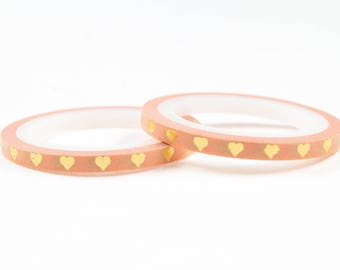 Gold foil skinny washi tape