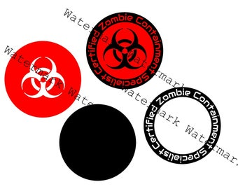 SVG and Studio3 Cut File Certified Zombie Containment Specials for Silhouette Cricut Brother Logo Logos Designs Decals Cutouts Files SVGs