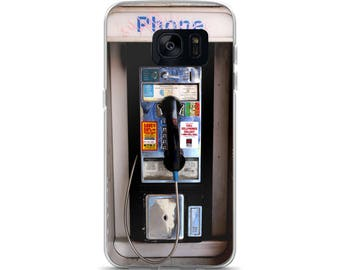 Samsung Case, Galaxy, S7, S7 Edge, S8, S8+ Phone Case, Pay Phone, Funny Case
