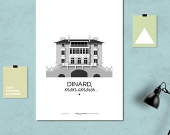 """A3 print/poster/print - Villa Hortense - """"Dinard, my love."""""""