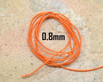 1 meter elastic nylon 0.8 mm diameter orange
