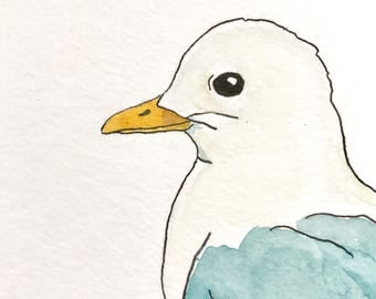 Seagull - original water color and ink