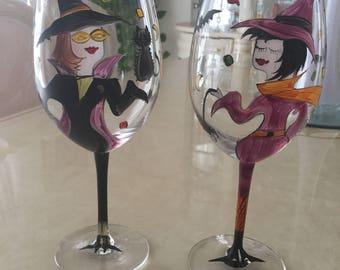 Halloween Wine Glasses Set of 2