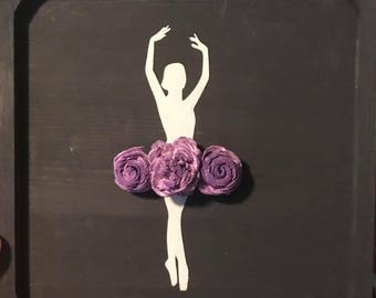 Ballerina with sola wood flowers