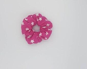 Pink star cute scrunchie