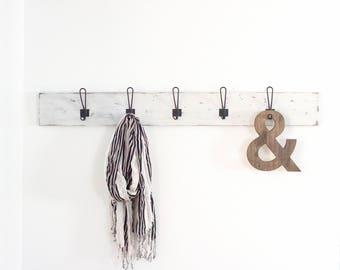 Wood Coat Rack   Rustic Coat Rack   Entryway Coat Hooks   Wall Mount Coat Rack   Wall Coat Rack   Hat Rack   Handmade   Hooks for Mudroom