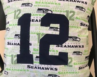 Seahawks 12th Man Throw Pillow