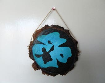 Turtle Reef Silhouette Wooden Hanging Ornament
