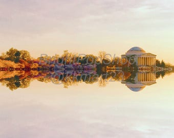 Jefferson Memorial Instant Download, Digital Art Print 12x12 & 24x24