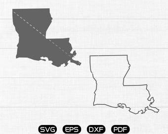 Louisiana SVG, State SVG Vector, LA Clipart, cricut, silhouette cut files commercial use