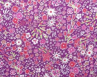 Tissu Liberty of London  COUPON - 50 x 67 cm - Tissu Liberty violet  Kayoko