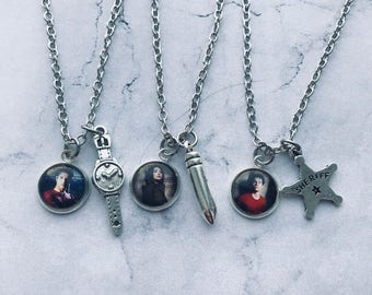 Paired pendants Teen Wolf, Necklace Allison Argent, Necklace Scott Mccall, Necklace Stiles Stilinski