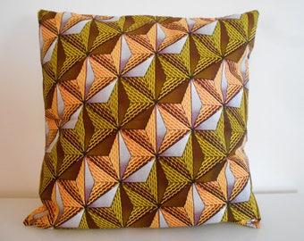 """Cushion cover 50 cm x 50 cm 40 cm x 40 cm """"Geometric"""" wax"""