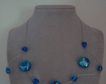 Original necklace in shades of blue