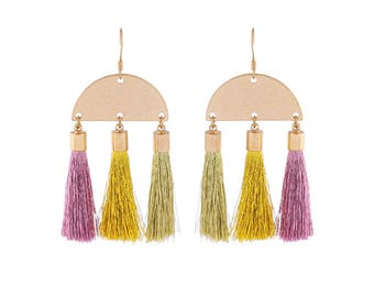 Tassel Earrings | Rose Gold Tassel Earrings | Gold Tassel Earrings | Bohemian Earrings | Hypoallergenic Earrings