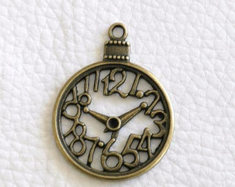 1 watch face charm bronze