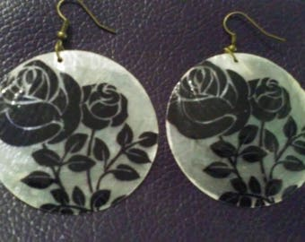 Floral Capiz Shell Earrings