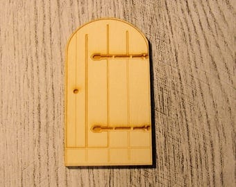 Door 596A embellishment for your creations wooden rounds