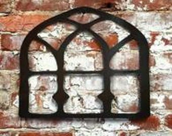 Metal Cathedral window-CH/Shabby Chic/ Wall decor/Metal art//Rusty/Farmhouse ***Pair of 2***
