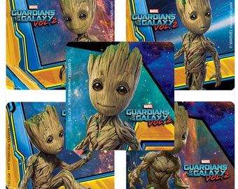 "25 Guardians of the Galaxy 2 Baby Groot Stickers, 2.5"" x 2.5"""