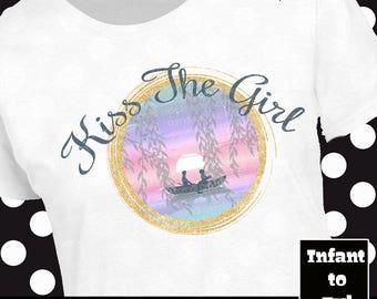 Kiss The Girl Shirt, Ariel Shirt, Little Mermaid Shirt, The Little Mermaid Shirt, Disney Princess Shirt, Prince Eric Shirt, Ariel Tank