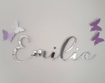 Large Custom Name Sign | Laser cut name sign | Personalised name sign | Kids door sign | Wall sign | Nursery wall sign