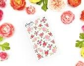 Warm up Roses Stickerset-watercolor sticker-pretty planning-scrapbooking-bullet journaling