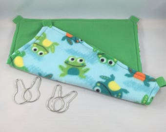 Smiling Froggie Fleece Hammock for Ferrets, Rats, Chinchillas, Degu, Guinea Pigs, Etc.
