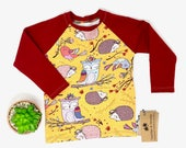 Woodland Critters Raglan Long-sleeve Top