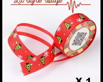 1 meter Masking Tape in silk (No. 51), Christmas forest, washi tape, masking tape.