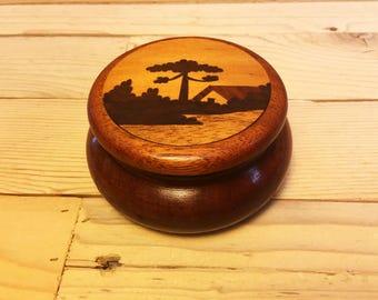 Inlay Wood Jar