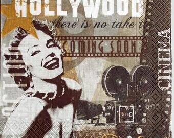Marilyn Monroe Hollywood #DI062 NAPKIN