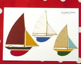 "Card ""The little Fanfan Sailboats"" 10x15cm"