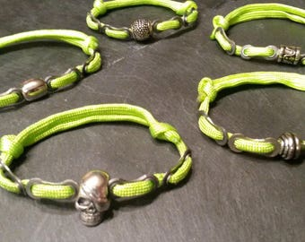 Mens Paracord bike chain bracelet