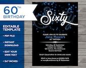 60th Birthday Invite, Cus...