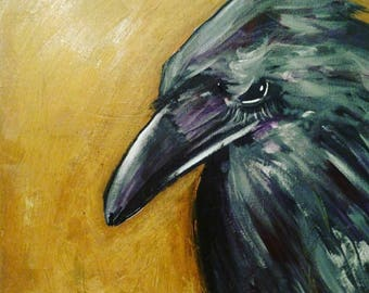Nevermore Crow Painting