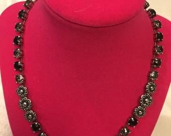 Black Swarovski Necklace and earring set