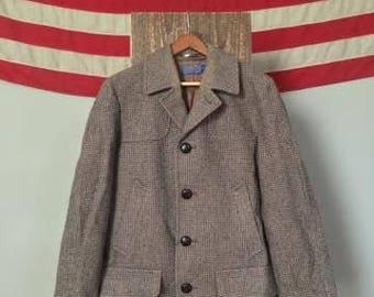 Vintage 1960's Mens Pendleton Coat - Size 40 - Brown - Size 40(Medium)