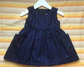 Blue dress , Pure cotton dress, Girls dress , Size 1-2 years, 2-3 years, 3-4 years, 4-5 years years