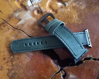 Handcrafted Crazy Horse Apple Watch Leather Band