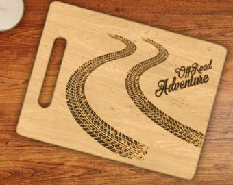 Off Road Adventure Tracks Engraved Cutting Board