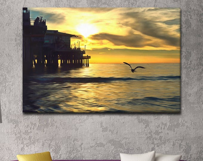 Santa Monica canvas, California poster, USA Poster, canvas, Interior decor, print poster, USA picture, art picture, gift