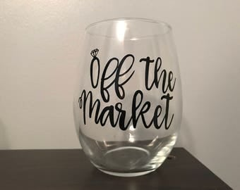 off the market wine glass