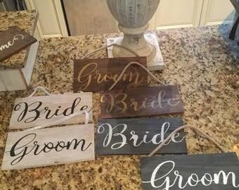 Bride & Groom signs
