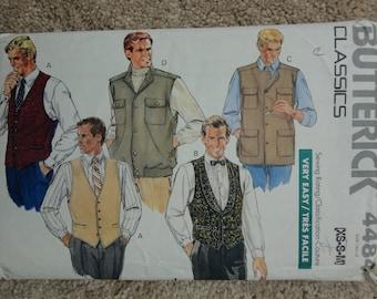 1989 Butterick pattern 4484 Size XS-S-M Mens waistcoat