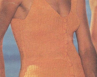 Knitted Rib Top, Knitted Pattern, Instant Download.