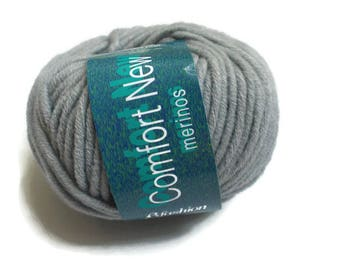 Chunky light merino wool blend knitting yarn Grey | Merinowolle-Mischung Strickgarn Dick Grau | Gross laine á tricoter gris Made in Italy